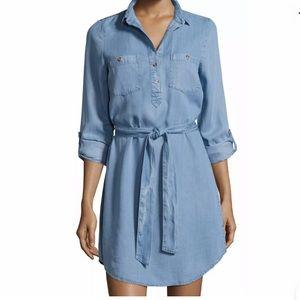NWT Alexia Admor 👗French chambray Shirt Dress S